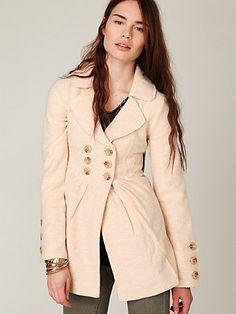 nude peacoat/trench coat/blazer = must