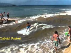 These guys are geniuses! They made their own waves!