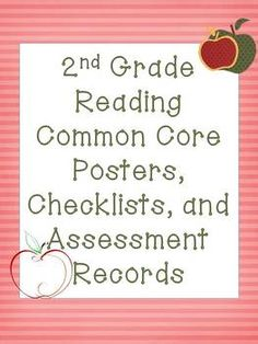 2nd Grade Common Core Reading Pack! Apple theme