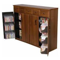 Leslie Dame CD 612 Oak Mission Style Multimedia Cabinet $249.98 | Decisions  | Pinterest | Media Storage, Storage Cabinets And Storage Ideas