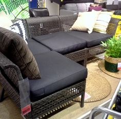 loved this Ikea set so much when we passed by, that we immediately made the purchase to spruce up the area of our new patio pavers....KUNGSHOLMEN, 4-seat sectional ..