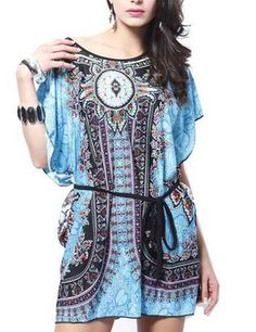 Pretty modern boho sundress tunic | Bohemian fashion from queenorganic.com