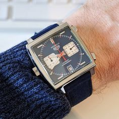 Tag Heuer Monaco, Square Watch, Swatch, Man Stuff, Tags, Accessories, Clock, Watch, Watches