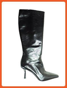 "Stuart Weitzman Womens Trophy Black Leather High 3"" Heel Tall Designer Boots, Size 5.5 M - Boots for women (*Amazon Partner-Link)"