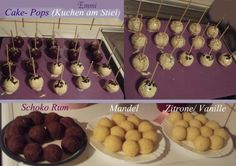 """Cake Pops """"Kuchen am Stiel"""" Grundrezept für Backblech – Rezept The perfect cake pops """"cake on a stick"""" basic recipe for baking tray recipe with simple step-by-step instructions: sugar and egg in a bowl … Easy Vanilla Cake Recipe, Easy Cake Recipes, Baking Recipes, Dessert Recipes, Desserts, Pink Velvet Cupcakes, Cake Pop Maker, Lactose Free Recipes, Honey And Cinnamon"""