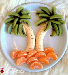 Palm trees made of fruits - # healthy kids snacks