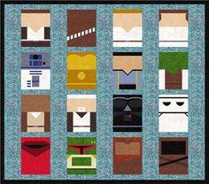 Star Wars 16 Quilt Block Patterns Foundation by PopularQuilt