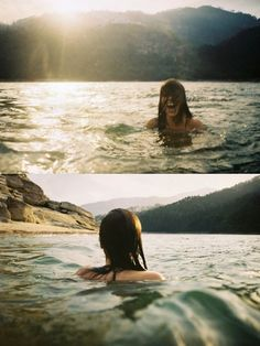 sunlight and mountain water