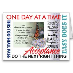 AA slogans anniversary card Anniversary Quotes, Anniversary Cards, Nicotine Addiction, Giving Up Smoking, Serenity Prayer, Serenity Quotes, Courage To Change, Addiction Recovery, Addiction Quotes