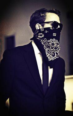 bandana mask suit