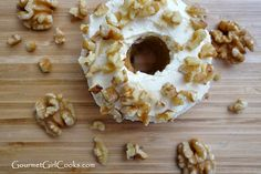Carrot Cake Donuts with Cream Cheese Frosting - low carb, low sugar, gluten free