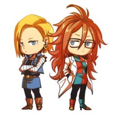 Android 18 and Android 21