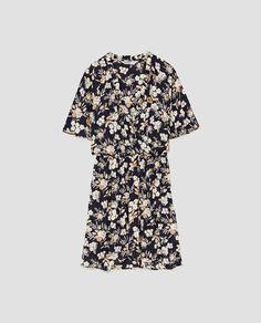 Zdjęcie 8 FLORAL PRINT CROSSED DRESS z Zara
