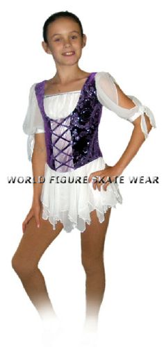 gypsy style figure skating dress