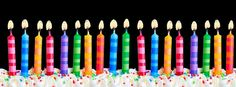 Facebook Timeline Cover Birthday - Cake Candles