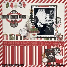 Love The Journey: Ho Ho Ho Layout. Carta Bella Christmas Delivery Collection
