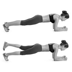 plank with leg lift.