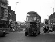 Lewisham High Street Lewisham South East London England in the London Bus, Old London, East London, London History, Local History, Rt Bus, London Transport, Old Pictures, London England