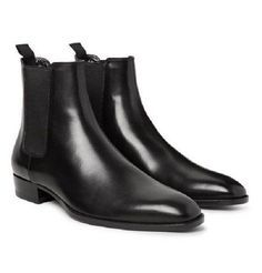 Handmade Men black Chelsea leather boot, Men black ankle leather boots,men boot sold by Leather Art Shop more products from Leather Art 2020 on Storenvy, the home of independent small businesses all over the world. Ankle Boots Men, Suede Boots, Leather Boots, Dress With Boots, Dress Shoes, Men's Shoes, Shoes Men, Shiny Shoes, Black Leather Chelsea Boots