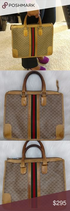 dc864c1ac3 Authentic Vintage Sherry Stripe Gucci Handbag. Gucci BagsGucci Handbags Leather ...