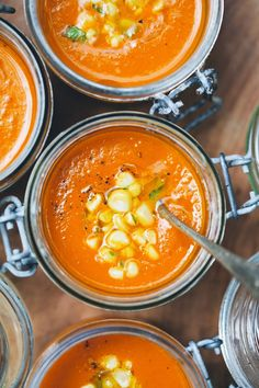 Carrot tomato coconut soup.
