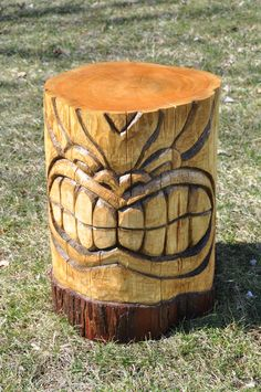Hand carved tiki table - wood carving