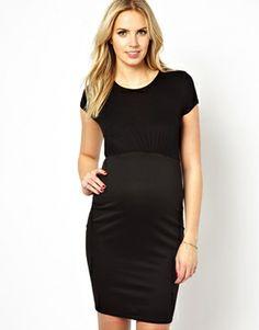 New Look Maternity Short Sleeve Bodycon Pencil Dress