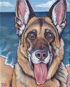 5cbd97510d4 Custom Pet Portrait Painting on Canvas in Acrylics on Ready to Akrylátové  Nehty