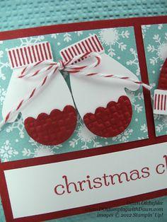 stampin up, dostamping, dawn olchefske, demonstrator, punch art, mitten builder punch, make a mitten, christmas