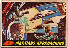 Martians from the Mars Attacks! 1962 trading card set