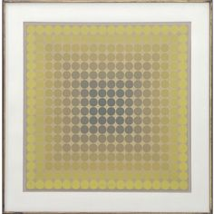 VICTOR VASARELY (FRENCH/HUNGARY 1906-1997), SERIGRAPH, OP ART, SIGNED #12/16. SHEET 24 1/2 X 24 1/2; FRAMED AND GLAZED-32 X 32