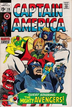 Captain America 1968 1st Series 116 August 1969 by ViewObscura, $10.00