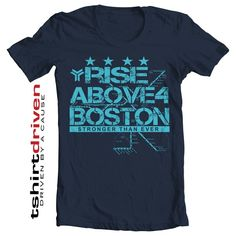 Rise Above 4 Boston Crew neck t-shirt - with Boston metro map as a background and 4 stars representing our fallen ones. All net proceed goes to the victims family.