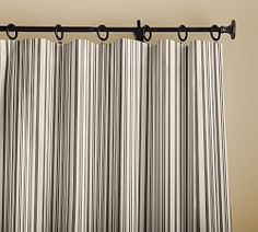 Shop Pottery Barn for custom curtains and drapes. You'll find window coverings made from linen, silk and tweed in a host of colors and styles. Drapes And Blinds, Striped Curtains, Printed Curtains, Cotton Curtains, Printed Linen, Blackout Curtains, Bedroom Curtains, Striped Linen, Chistes