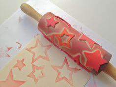 schaeresteipapier: 3x3 Sterne - mit Stempeln