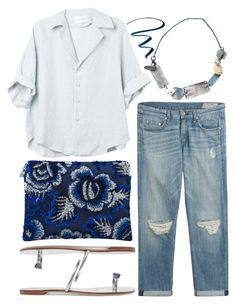 """when in doubt, go with denim"" by foundlostme ❤ liked on Polyvore featuring rag & bone, Forest of Chintz, Marni, Casadei, Stila, denim and Clutch"