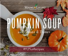 The perfect autumnal meal, full of comforting ingredient which are delicious & healthy! Key ingredients include onions, ginger, vegetable stock, pumpkin, coconut cream, lemon+ and thyme+ essential oil.