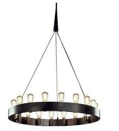 Round Metal Hanging Light Fixture
