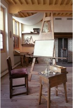 rembrandt's studio - I've walked I this studio and through his house in Amsterdam - beautiful!