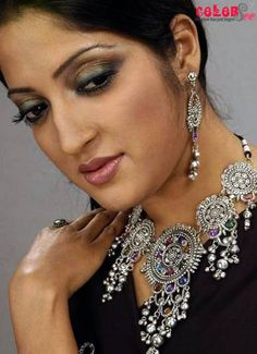 Humaira Himu in Black and Silver.