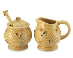 Honeybee Sugar/Honey Pot & Creamer Set  williams-sonoma.com