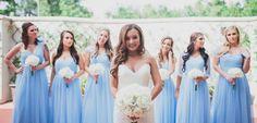 periwinkle tulle bridesmaid dresses