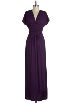 Tout Sweep Dress. Getting ready in a flash has never resulted in such a stunning sight as when you sneak into this deep violet dress! #purple #modcloth
