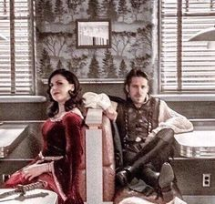 Awesome Regina and Robin (Lana and Sean) Maine Once Robin And Regina, Sean Maguire, Once Up A Time, Ouat Cast, Regina Mills, Outlaw Queen, Marvel, Captain Swan, Fantasy Series