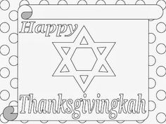 Thanksgivingkah coloring page