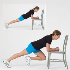 Your Get-Fit Regimen: Mountain climbers work your butt, legs, and core - plus help bring your heart rate up! #fitness   Health.com