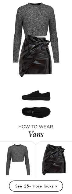"""""""Untitled #844"""" by darasylvia on Polyvore featuring Carven and Vans How To Wear Vans, Gray Sweater, Carven, Autumnal, Out Of Style, Alternative Fashion, Dress To Impress, Style Ideas, Fairytale"""