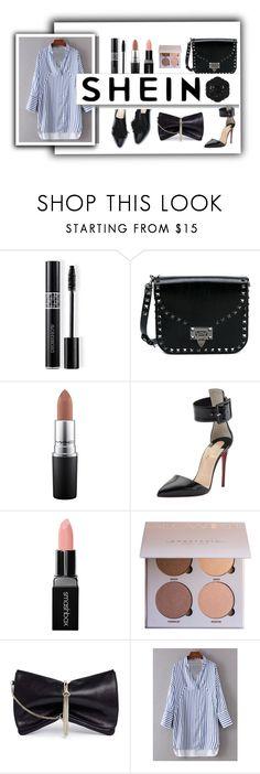 """shein"" by a-braizat on Polyvore featuring Christian Dior, Valentino, MAC Cosmetics, Christian Louboutin, Smashbox, Jimmy Choo, White Label and Swissco"