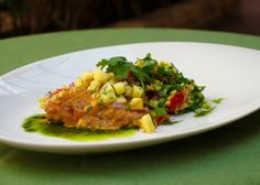 Our South Africa invasion at Michael's On East begins today with the launch of our Londolozi Game Reserve Epicurean Adventure!   Pan-Seared South African Kingklip & Chermoula Moroccan Couscous & Pineapple Salsa  View the full menu online:  http://bestfood.com/2015/10/londolozi-epicurean-adventure-november-2015/