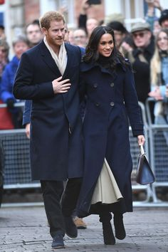 - Just four days afternews of their engagement made headlines, Prince Harry took Meghan Markle on their first official joint royal event—and it was nothing short of perfect, as the bride-to-be wowed Nottingham crowds from the moment she set foot in the town center.The two received the warmest of welcomes, with locals handing Meghan cards and flowers as part of her introduction to British royal obligations. (She's already getting the hang of it!) Wearing a double-breasted Mackage coat and…